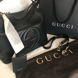 d99eb3d2674 Gucci Bags - NEW 100% Authentic GUCCI Black Soho Hobo Leather